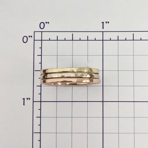 Stacking Rings Hammered Texture