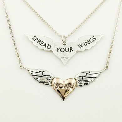 Angel Wings Reversible Pendant or Necklace