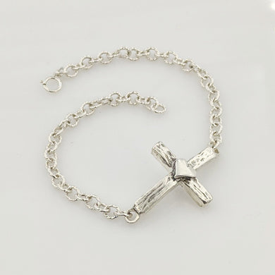 Cross ID Bracelet with Dove or Heart