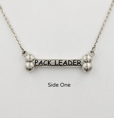 Dog Bone Pack Leader /Alpha Bitch Reversible Necklace