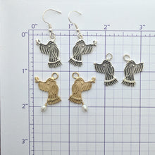 Load image into Gallery viewer, Rocky Doodle Silhouette Dog Earrings - with or without Pearl Accents