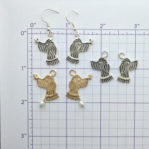 Rocky Doodle Silhouette Dog Earrings - with or without Pearl Accents