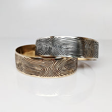 Load image into Gallery viewer, Extra Wide Fingerprint Cuff Bracelet - Custom Order