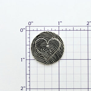 Fingerprint 2 Piece Heart Coin Puzzle Set - Custom Order
