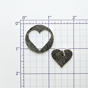 Heart Coin Fingerprint 2 Piece Puzzle Set - Custom Order