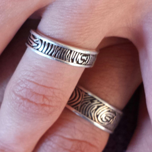Fingerprint Wedding Ring- Custom Order