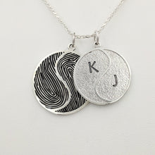 Load image into Gallery viewer, Fingerprint Yin/Yang Pendant or Key Ring