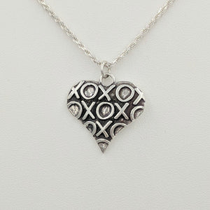 Hugs and Kisses Heart Pendant or Charm