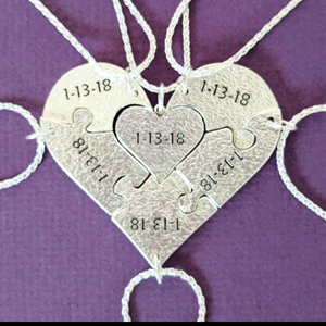 Bridesmaid Heart Puzzle Set