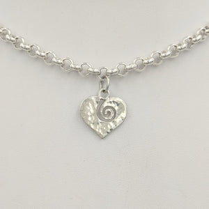 Heart and Soul Heart Pendant or Charm