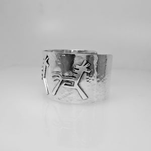 Horse Petroglyph Cuff Bracelet  - One Of a Kind