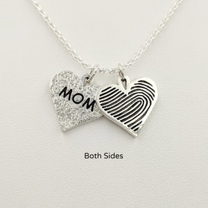 Fingerprint Heart Charm - Custom Order