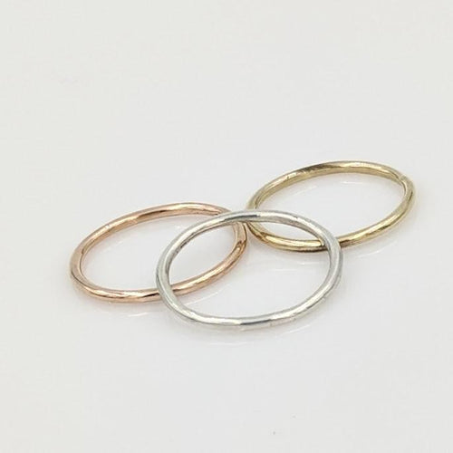 Stacking Rings Smooth and Shiny Texture
