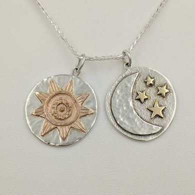 Celestial Zia Sun and Moon Reversible Pendant