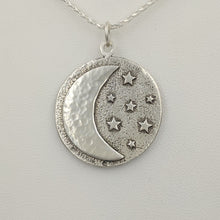 Load image into Gallery viewer, Celestial Crescent Moon and Stars Pendant