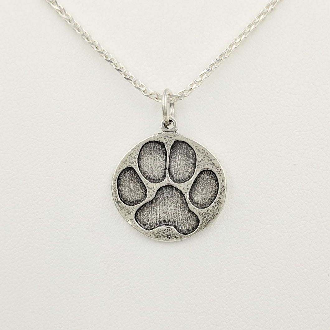 Puppy Dog Paw Print Pendant