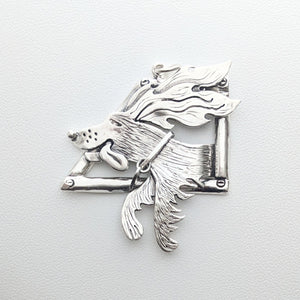 ROAD TRIP - Joy Ride Puppy Dog Pendant or Pin