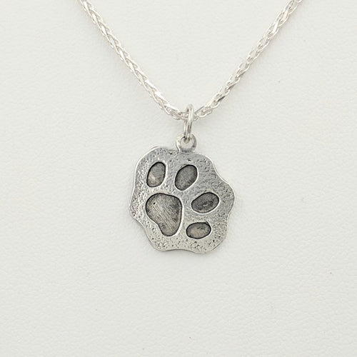Kitty Cat Paw Print Pendant or Charm