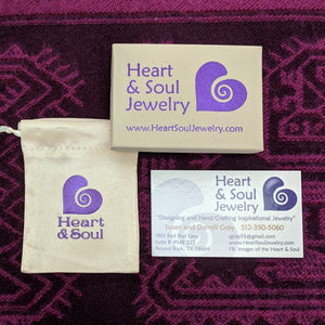 Heart and Soul Jewelry Satin Pouch, Box and Complimentary Polishing Cloth