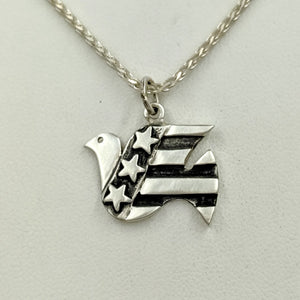 American Peace Dove Pendant or Pin