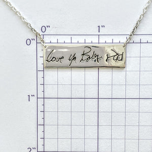 Custom Love Note Bar Necklace