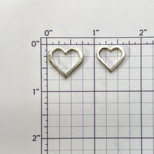 Load image into Gallery viewer, Heart Coin - Middle Open Heart Charm for the 3 Piece Set