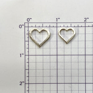 Heart Coin - Middle Open Heart Charm for the 3 Piece Set