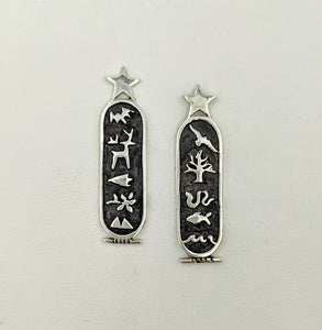 Texas Wildlife Cartouche Earrings