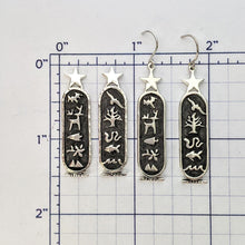 Load image into Gallery viewer, Texas Wildlife Cartouche Earrings