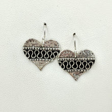 Load image into Gallery viewer, Fancy Heart Earrings