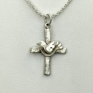 Cross with Symbolic Icons - Sterling Silver