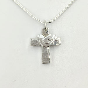 "Cross ""T"" Pendant - Sterling Silver with Symbolic Icons"