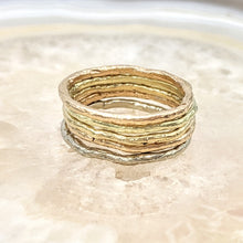 Load image into Gallery viewer, Stacking Rings Organic Texture