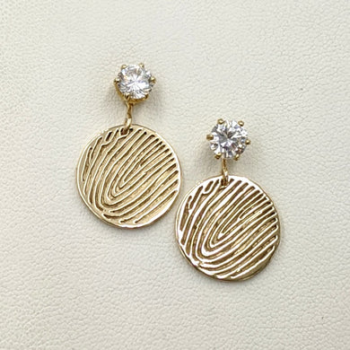 Fingerprint Coin Earrings - Custom