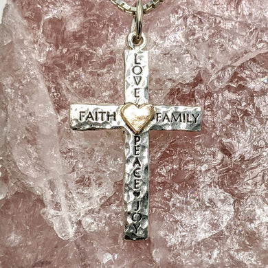 Inspirational Reversible Cross Pendant