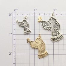 Load image into Gallery viewer, Rocky Doodle Silhouette Dog Pendant with or without Pearl Accent