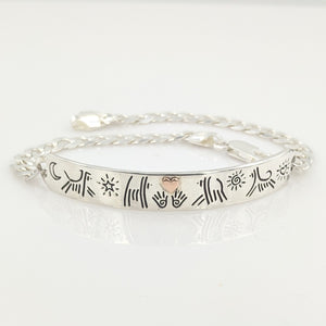 Puppy Dog Icon ID Bracelet with Heart
