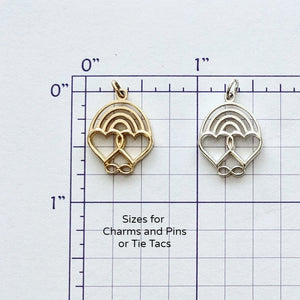 Rainbow Bridge Charm or Pin