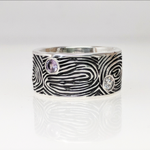 Load image into Gallery viewer, Fingerprint Family Eternity Band - Custom Order