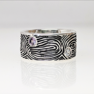 Fingerprint Family Eternity Band - Custom Order