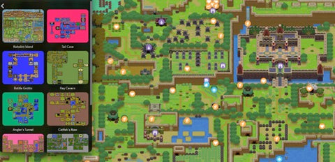 digital map for link's awakening