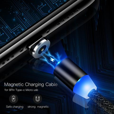 3-In-1 Metal Braided Magnetic Charging Cable
