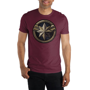 Marvel Clothing Captain Marvel Emblem Graphic Short-Sleeve T-Shirt