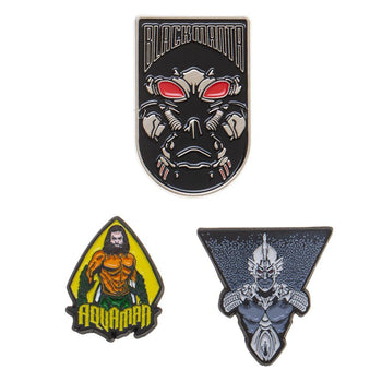 Aquaman Pin Set DC Comics Lapel Pins Aquaman Accessories DC Comics Pins