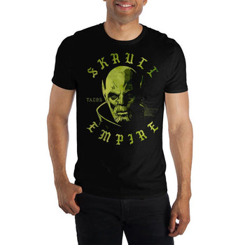 Marvel Clothing Captain Marvel Skrull Empire Talos Graphic Short-Sleeve T-Shirt