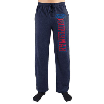 Superman S Logo Print Men's Loungewear Lounge Pants