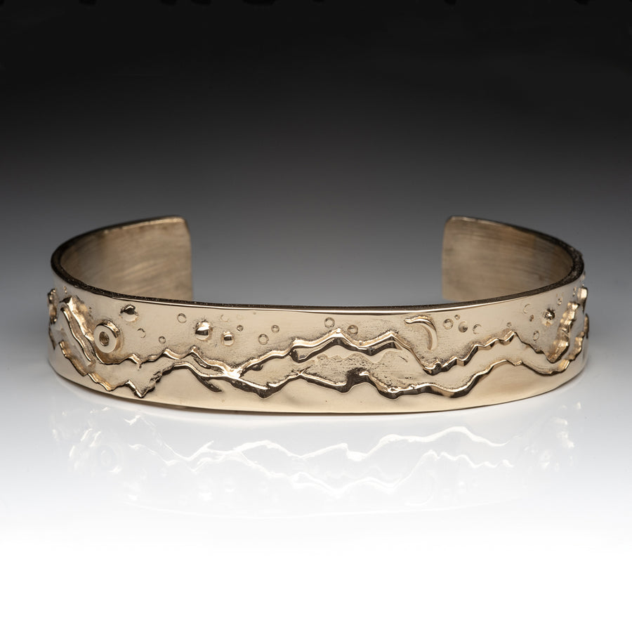14KY Gold Mountain Cuff