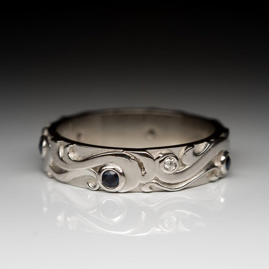 Stormy Sea Ring - Platinum