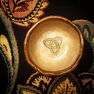 Celtic Triquetra Offering Bowl