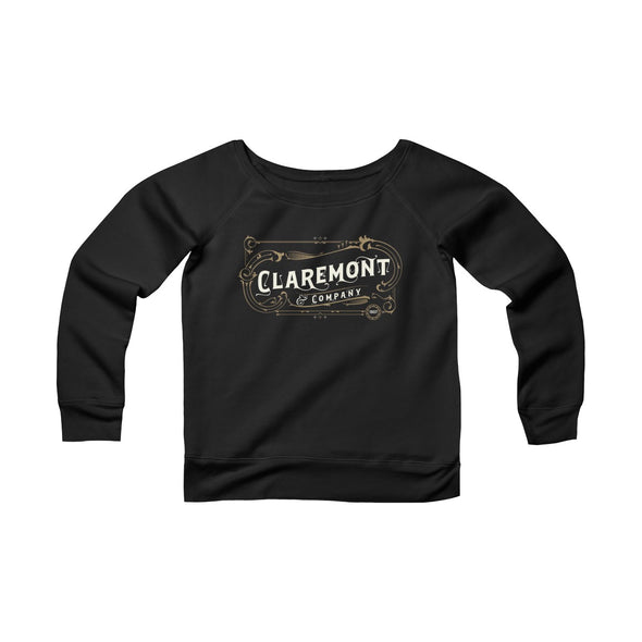 Women's Claremont & Company, Fleece Wide Neck Sweatshirt